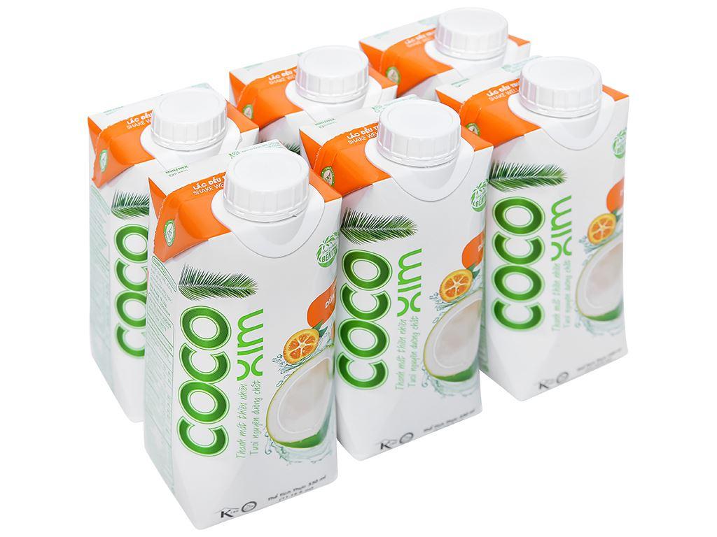6 hộp nước dừa xiêm và tắc Cocoxim 330ml 1