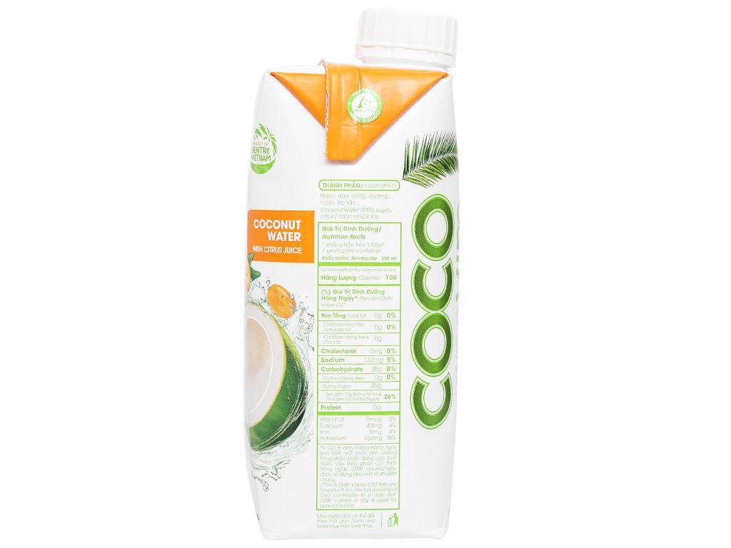 6 hộp nước dừa xiêm và tắc Cocoxim 330ml 4
