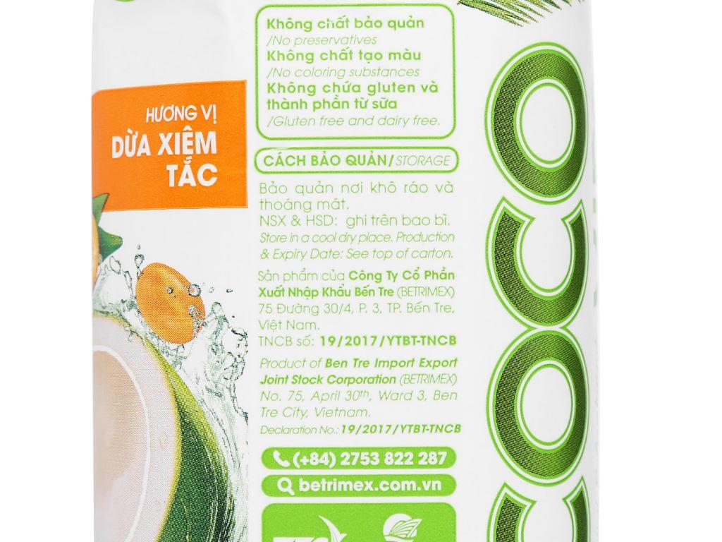 6 hộp nước dừa xiêm và tắc Cocoxim 330ml 6