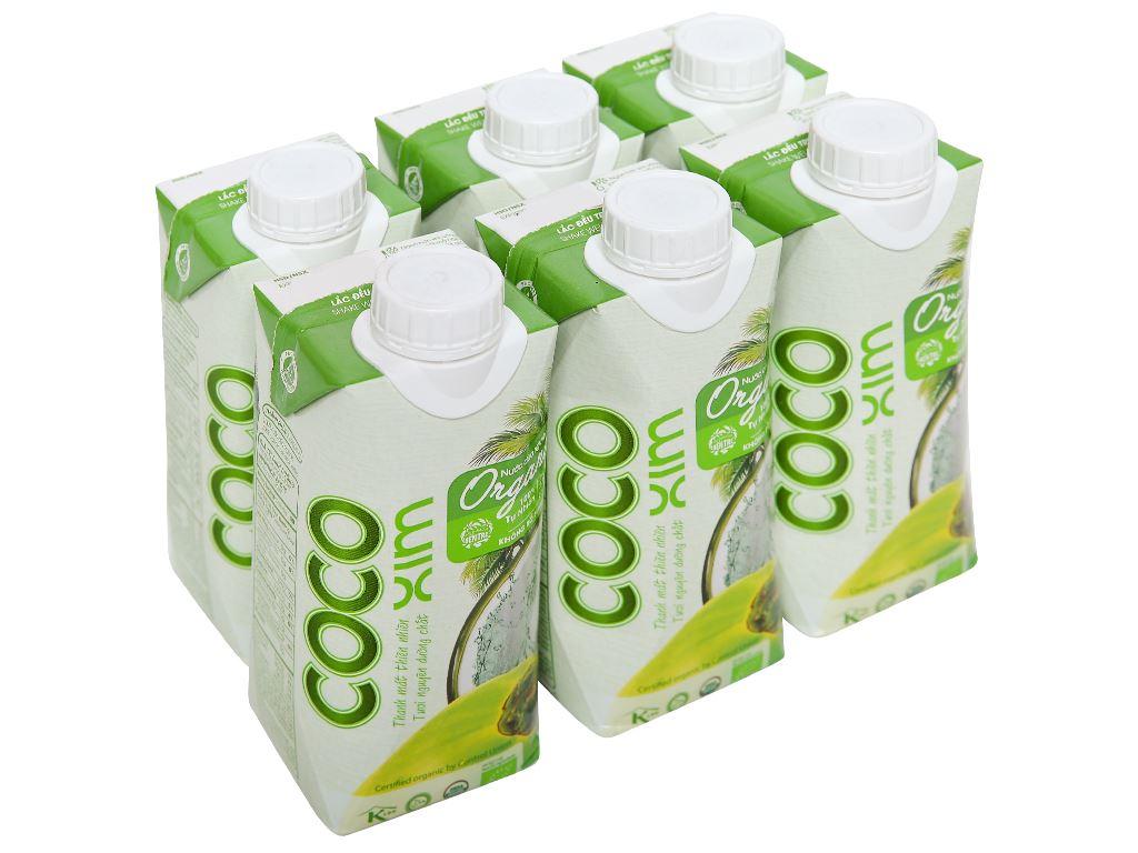 6 hộp nước dừa nguyên chất Cocoxim Organic 330ml 1