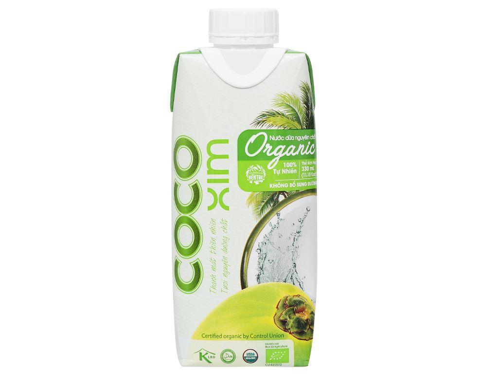 Thùng 12 hộp nước dừa nguyên chất Cocoxim Organic 330ml 3