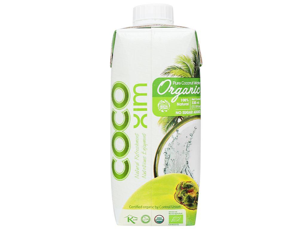 Thùng 12 hộp nước dừa nguyên chất Cocoxim Organic 330ml 4