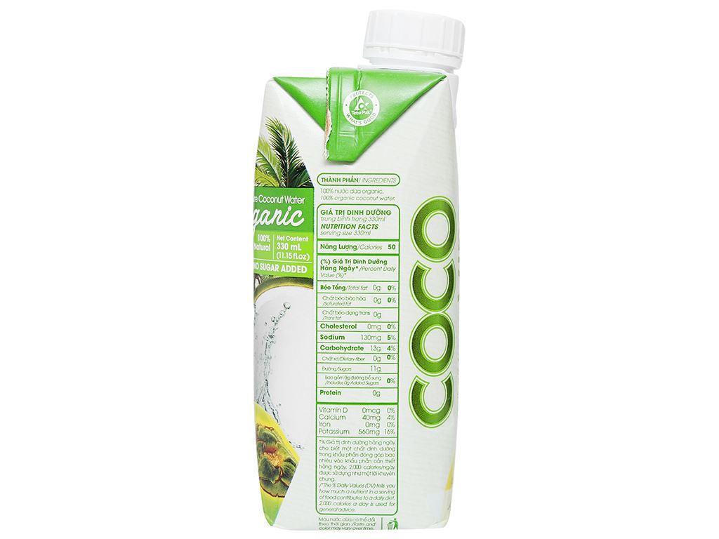 Thùng 12 hộp nước dừa nguyên chất Cocoxim Organic 330ml 11