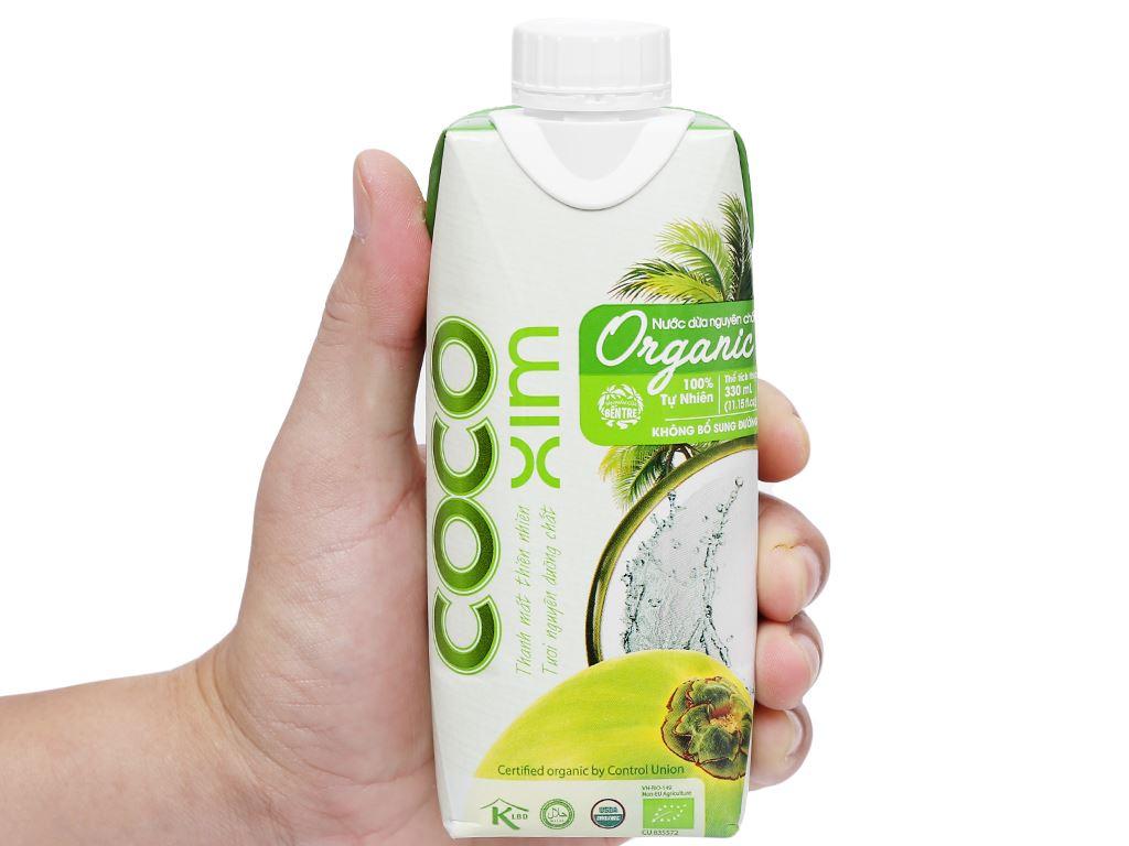 Thùng 12 hộp nước dừa nguyên chất Cocoxim Organic 330ml 9