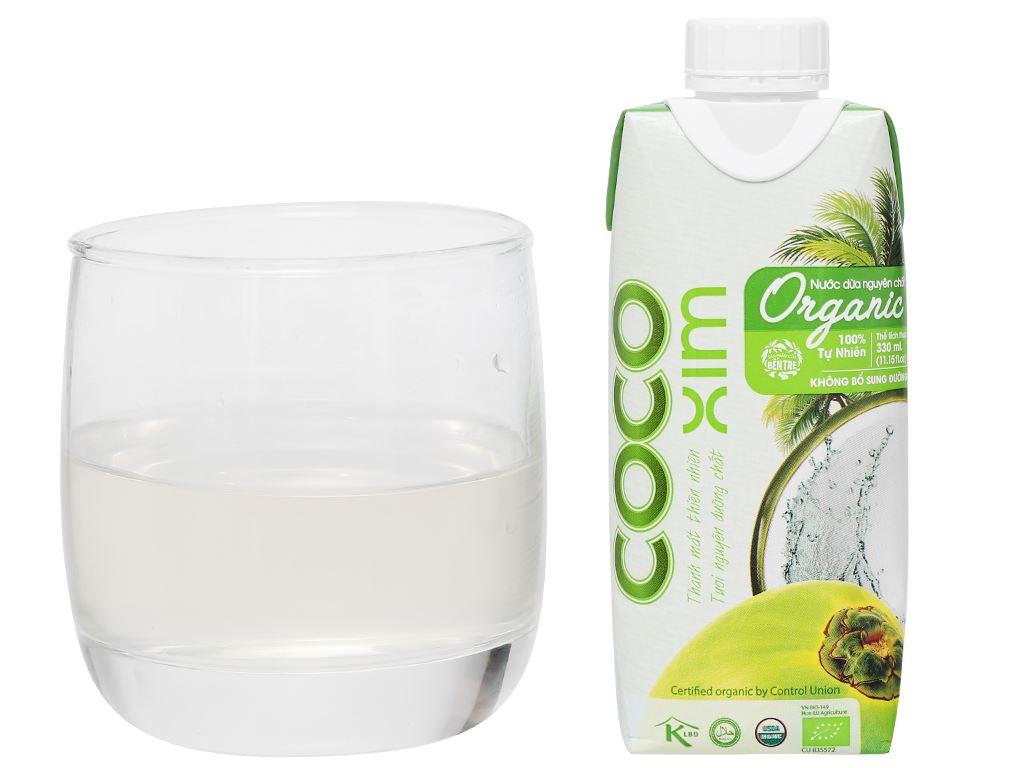 Thùng 12 hộp nước dừa nguyên chất Cocoxim Organic 330ml 10