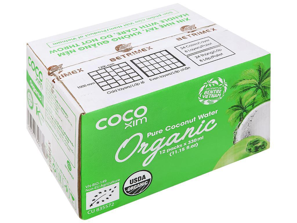 Thùng 12 hộp nước dừa nguyên chất Cocoxim Organic 330ml 1
