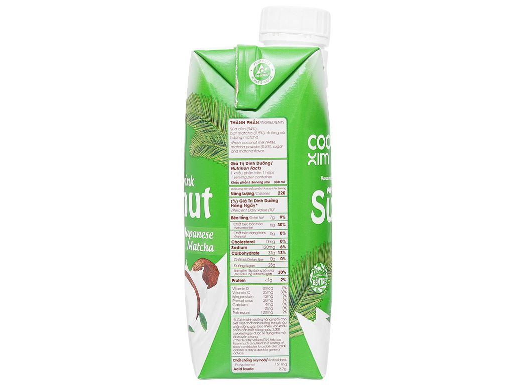 Lốc 6 hộp sữa dừa matcha Nhật Bản Cocoxim 330ml 4