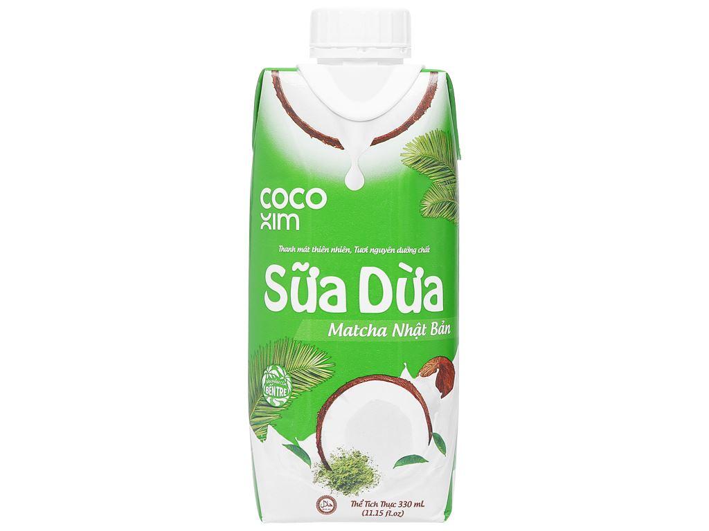 Thùng 12 hộp sữa dừa matcha Nhật Bản Cocoxim 330ml 3