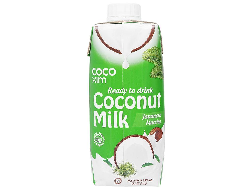 Thùng 12 hộp sữa dừa matcha Nhật Bản Cocoxim 330ml 4