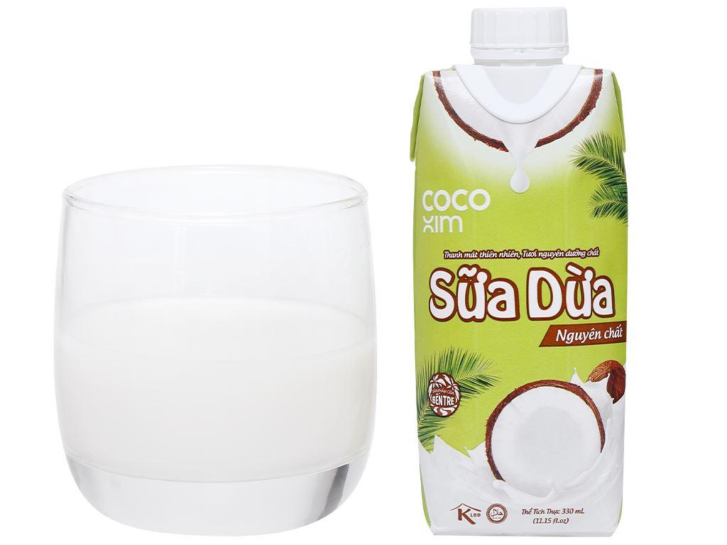 Thùng 12 hộp sữa dừa nguyên chất Cocoxim 330ml 10