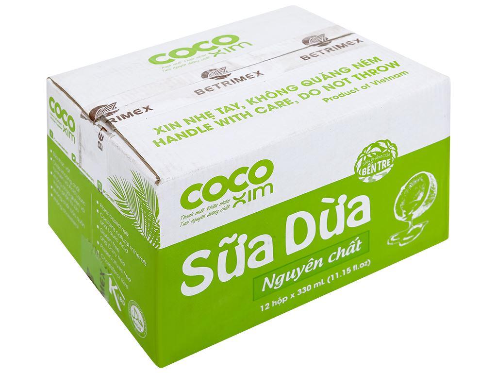 Thùng 12 hộp sữa dừa nguyên chất Cocoxim 330ml 1