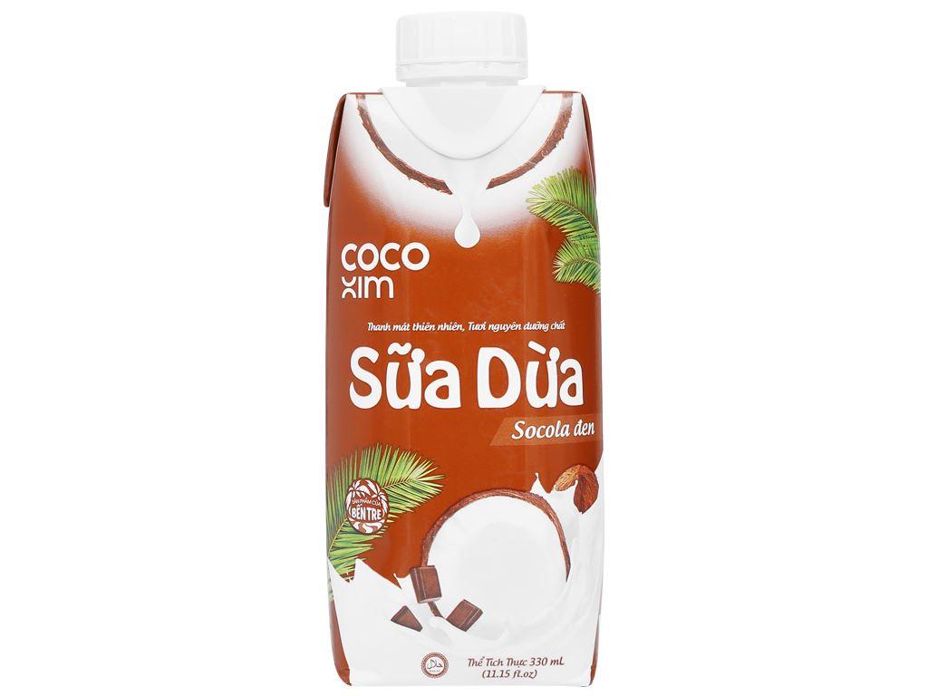 6 hộp sữa dừa socola đen Cocoxim 330ml 2