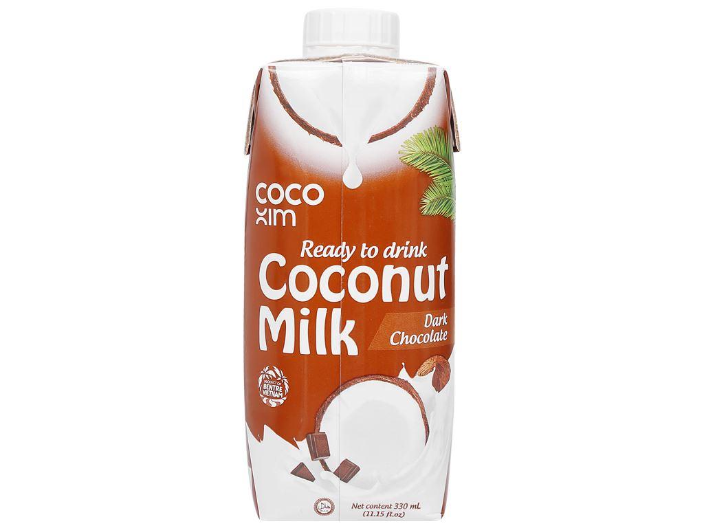 Thùng 12 hộp sữa dừa socola đen Cocoxim 330ml 4
