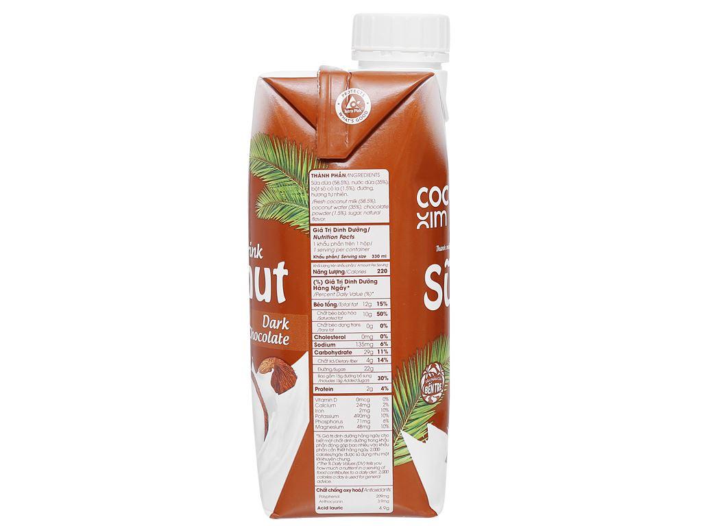 Thùng 12 hộp sữa dừa socola đen Cocoxim 330ml 5