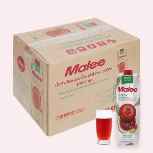 12 hộp nước ép lựu & trái cây hỗn hợp Malee 1 lít