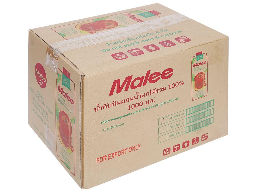 12 hộp nước ép lựu & trái cây hỗn hợp Malee 1 lít 1