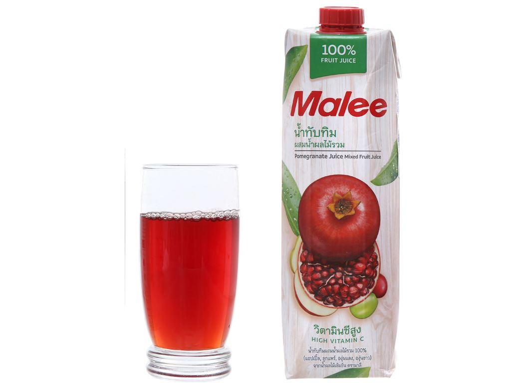 12 hộp nước ép lựu & trái cây hỗn hợp Malee 1 lít 3
