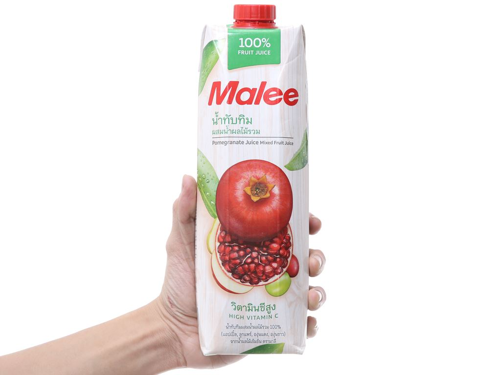 12 hộp nước ép lựu & trái cây hỗn hợp Malee 1 lít 4