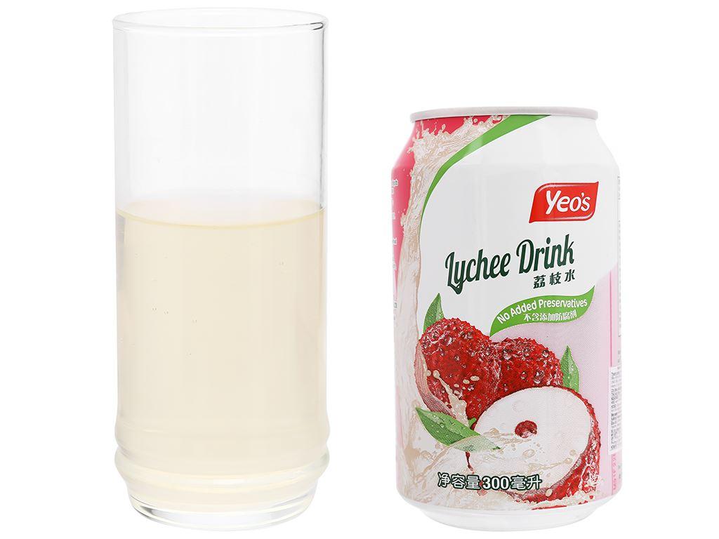 6 lon nước trái vải Yeo's 300ml 8