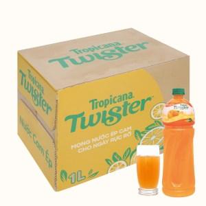 12 chai nước cam ép Twister 1 lít