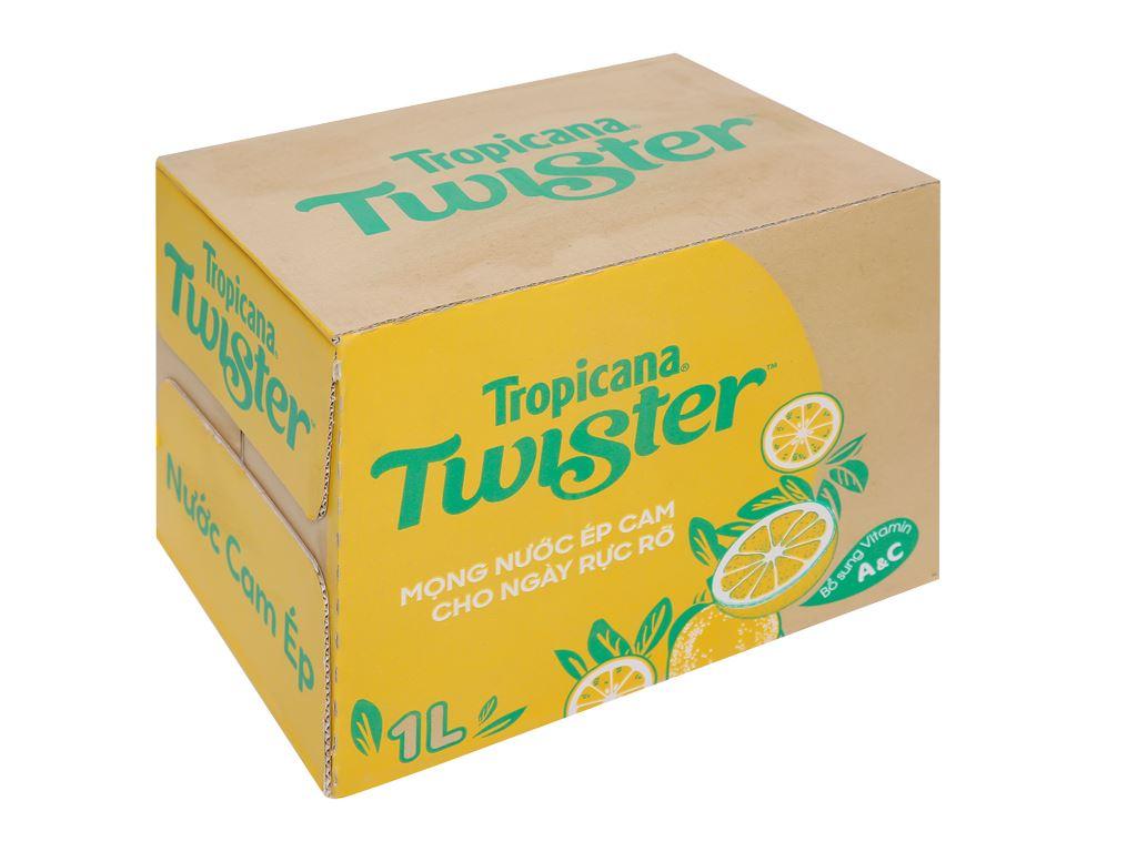 12 chai nước cam ép Twister 1 lít 1