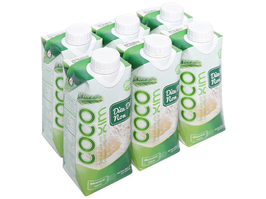 6 hộp nước dừa dứa non Cocoxim 330ml 1