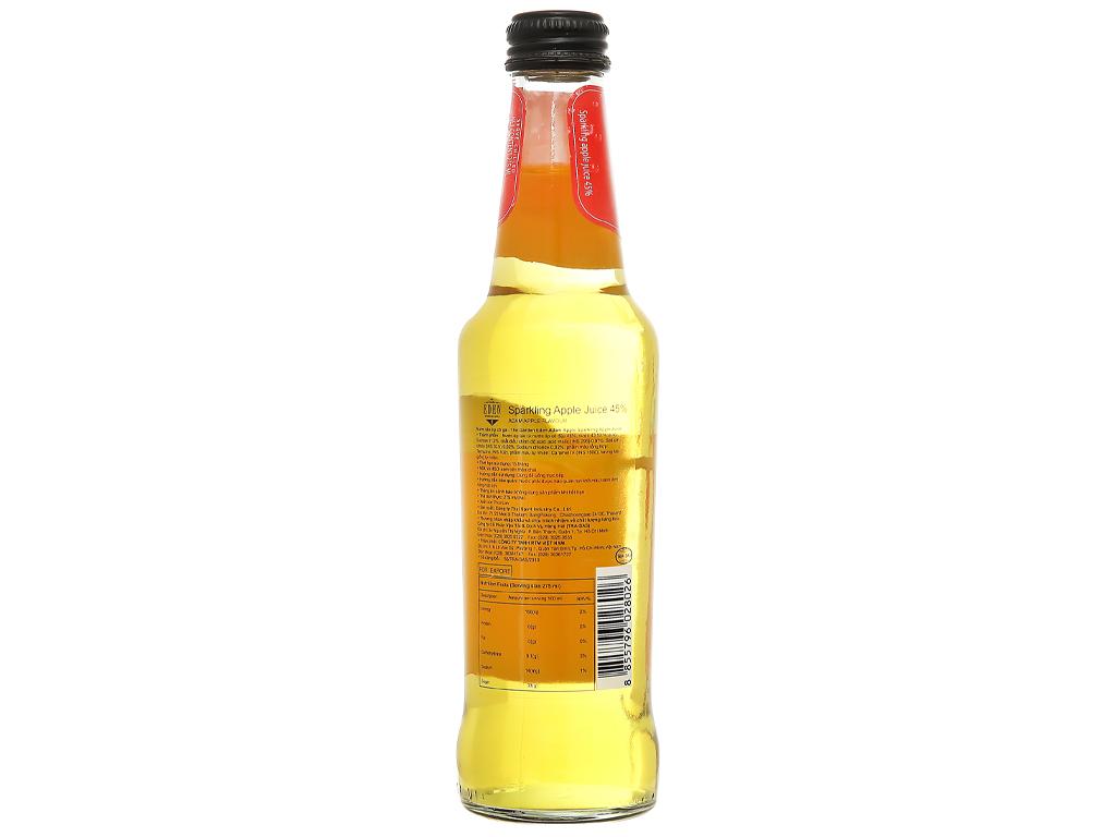 Nước ép táo có ga Eden Adam chai 275ml 2