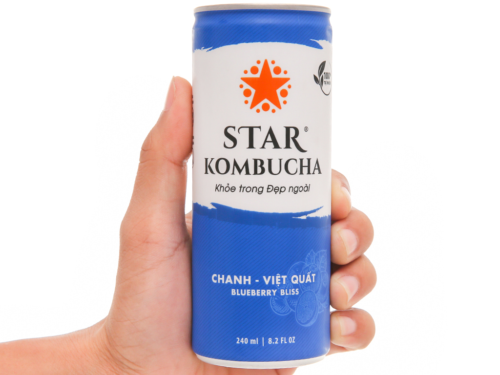 Star Kombucha vị chanh và việt quất 240ml 6