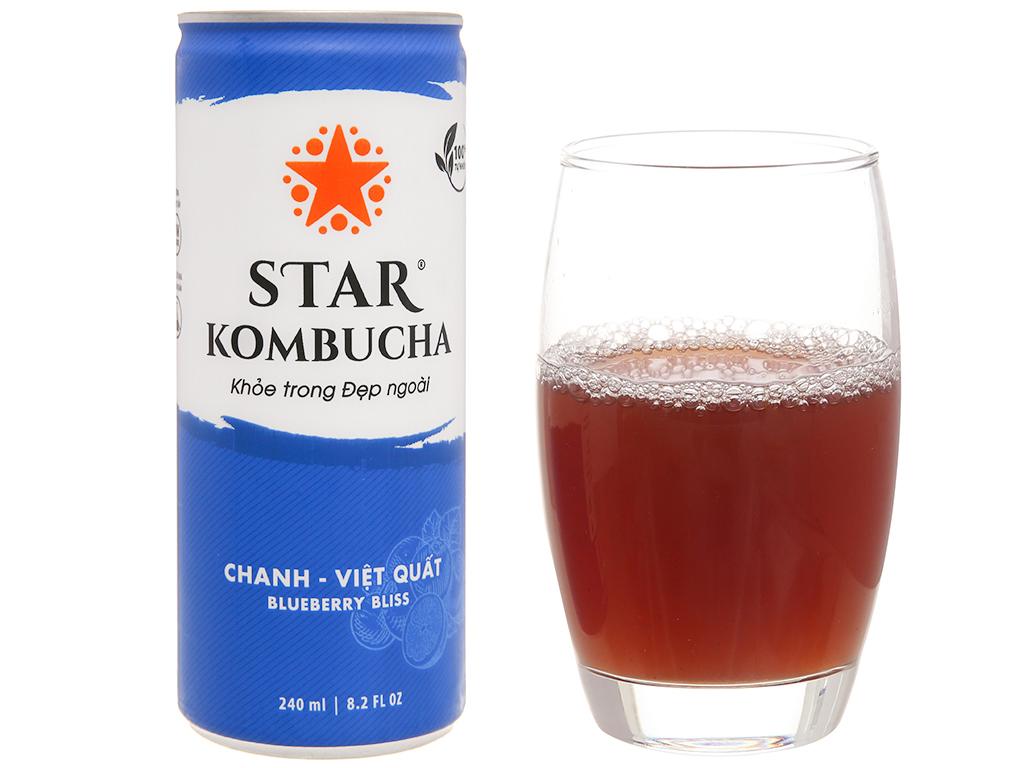 Star Kombucha vị chanh và việt quất 240ml 5