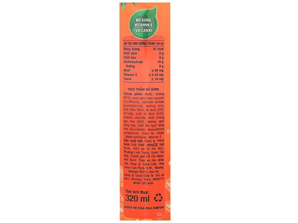 Thùng 24 lon nước cam ép Minute Maid Splash 320ml 5