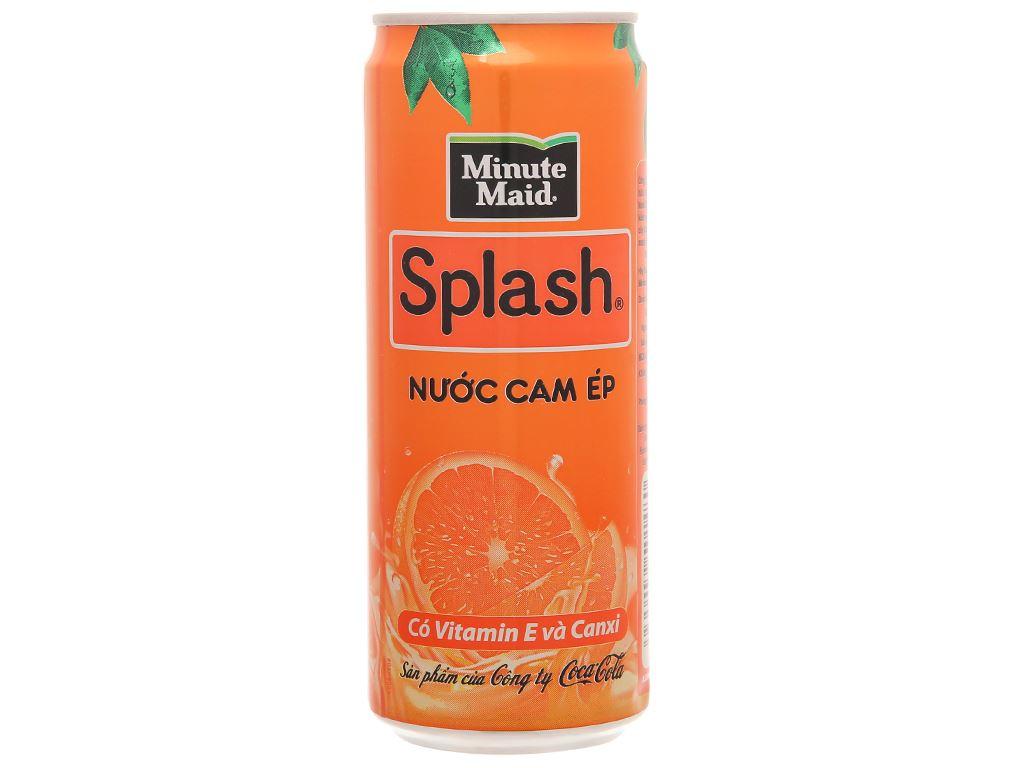 6 lon nước cam ép Minute Maid Splash 320ml 2