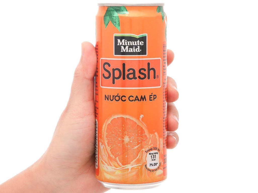 6 lon nước cam ép Minute Maid Splash 320ml 3