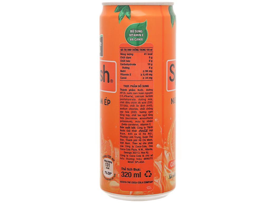 6 lon nước cam ép Minute Maid Splash 320ml 4