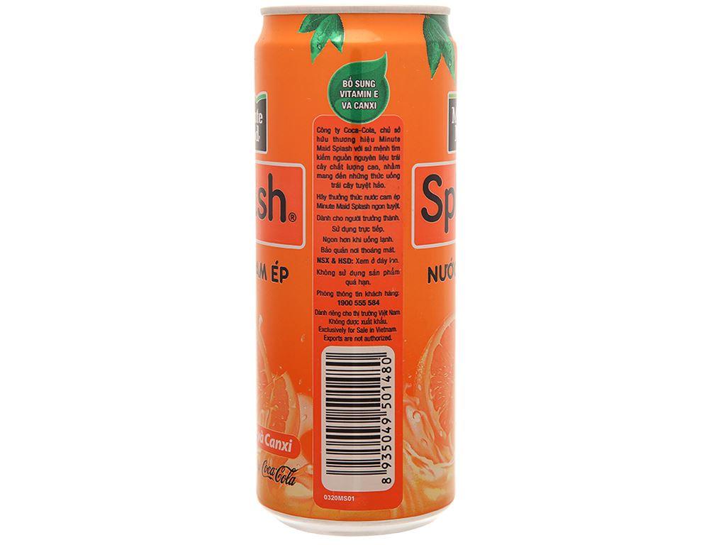 6 lon nước cam ép Minute Maid Splash 320ml 5
