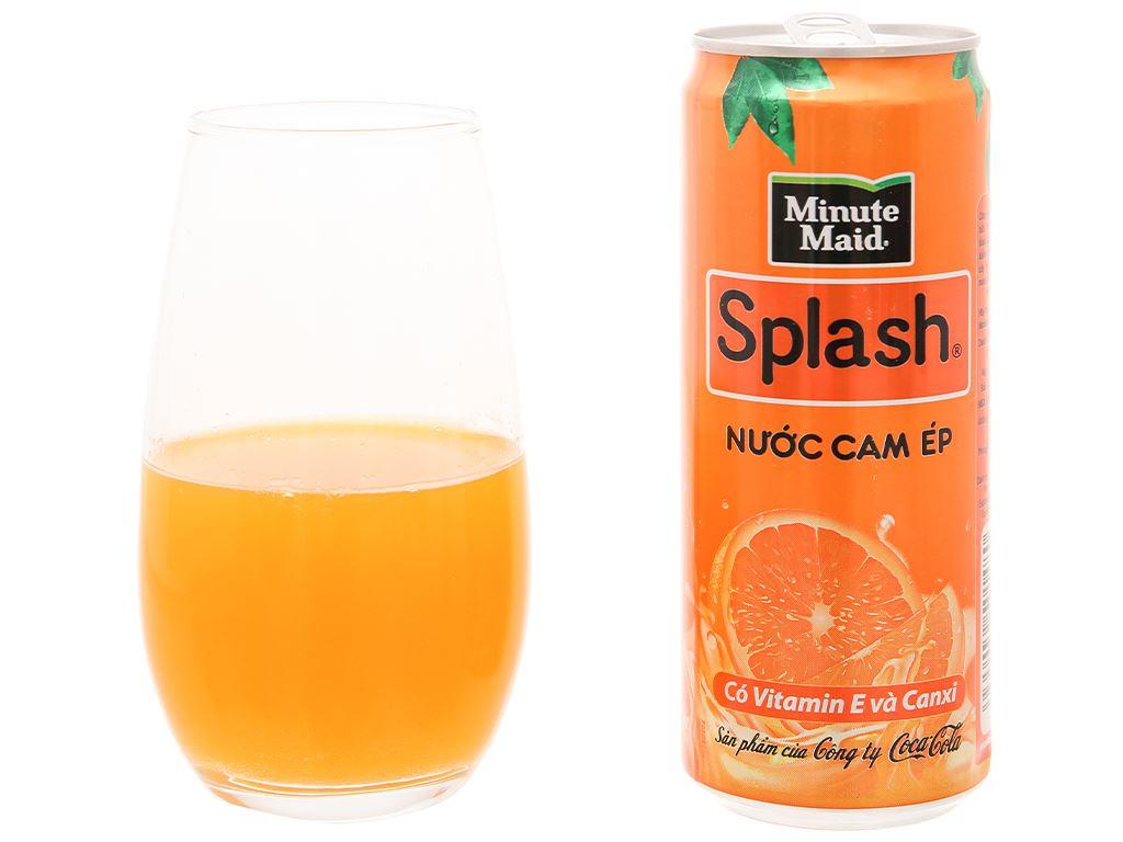 6 lon nước cam ép Minute Maid Splash 320ml 7