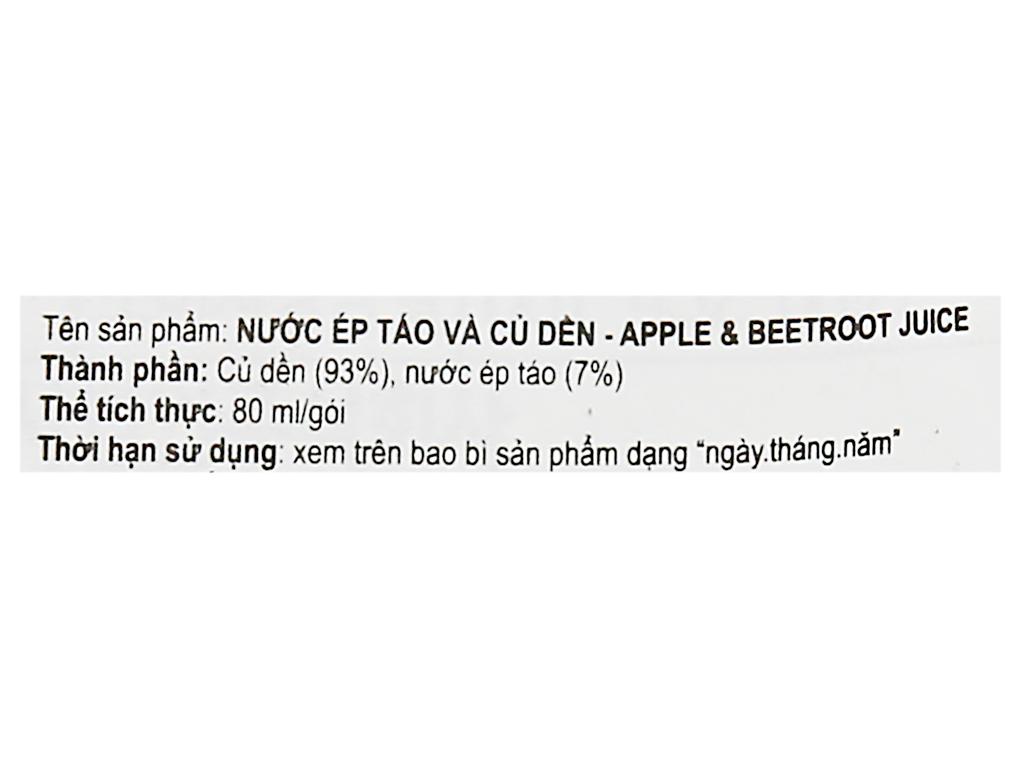 Nước ép táo và củ dền Zaram Food 80ml 5