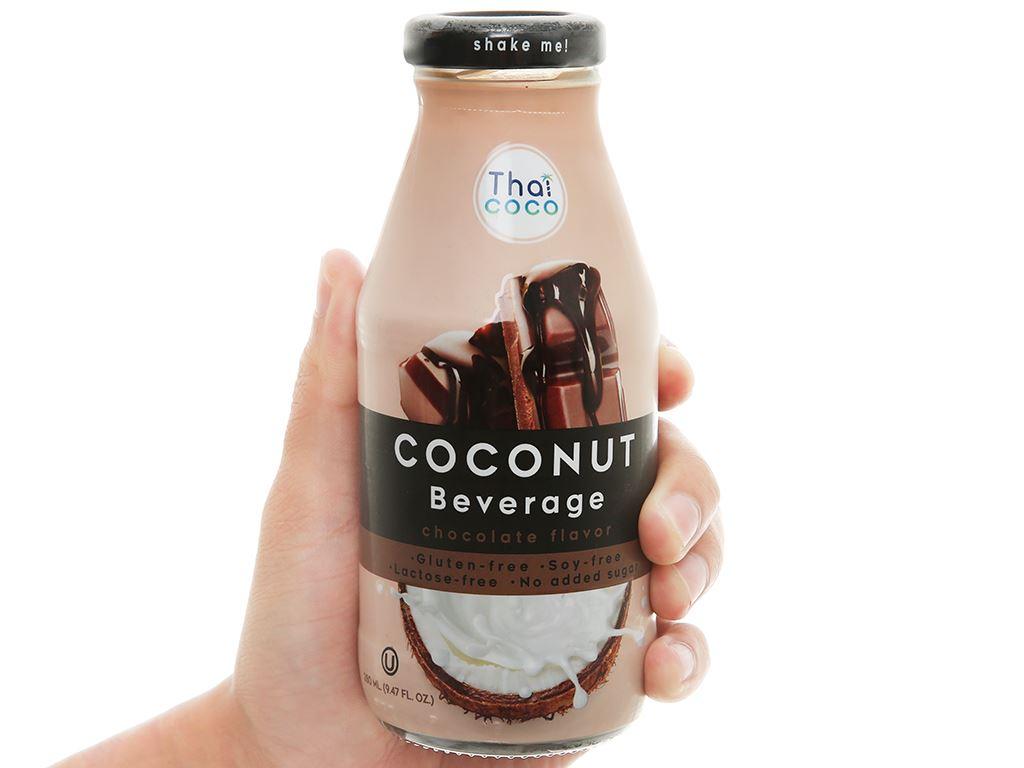 Sữa dừa Thai Coco vị socola 280ml 1