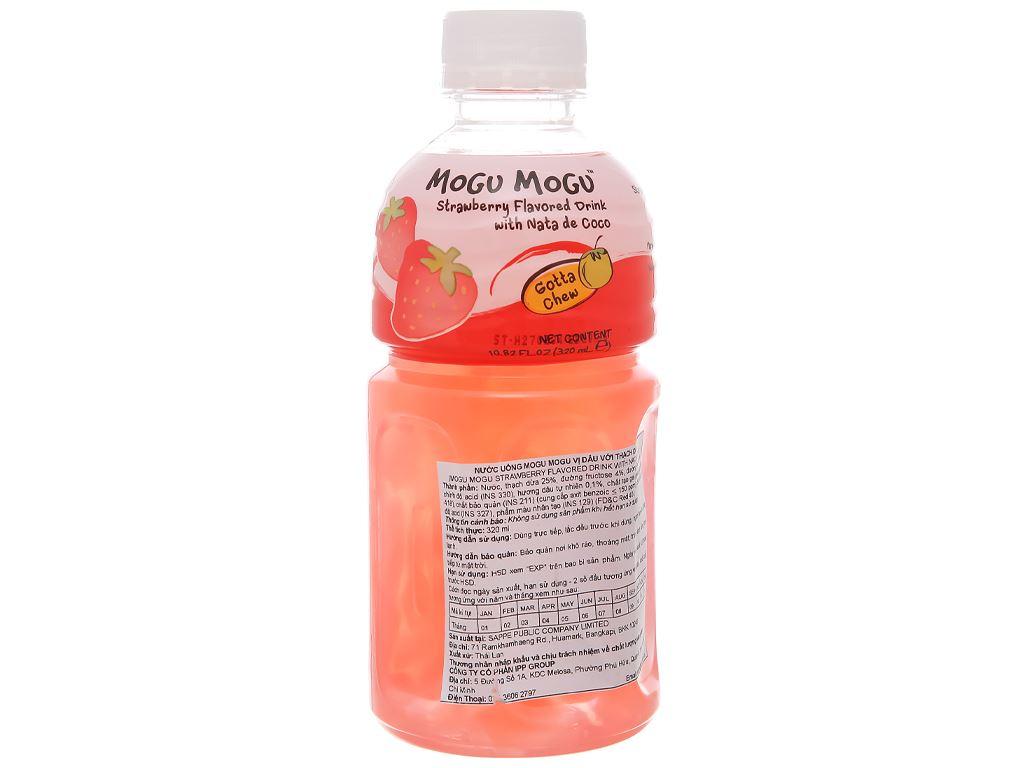 Nước uống có thạch dừa Mogu Mogu vị dâu 320ml 1