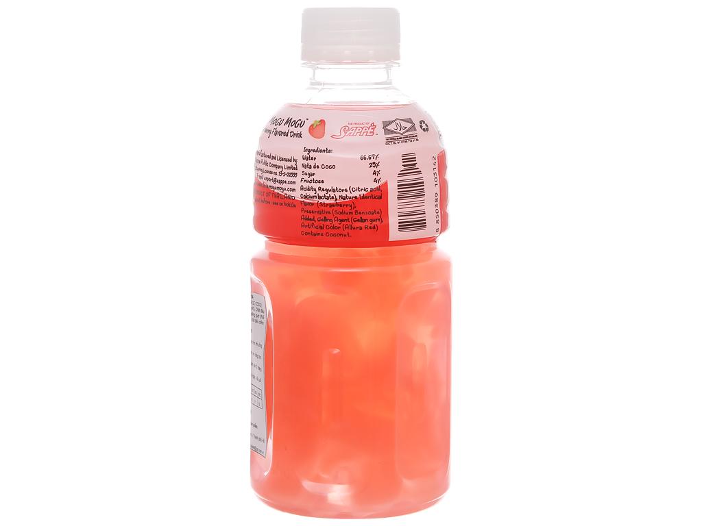 Nước uống có thạch dừa Mogu Mogu vị dâu 320ml 2