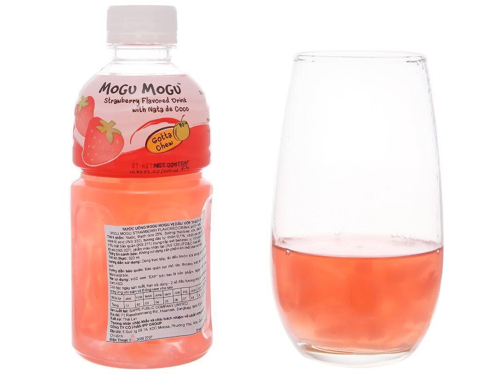 Nước uống có thạch dừa Mogu Mogu vị dâu 320ml 5