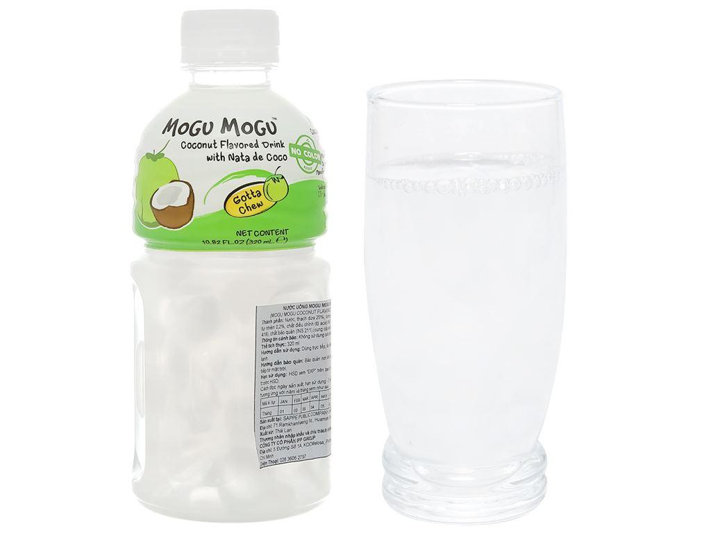 Nước uống có thạch dừa Mogu Mogu vị dừa 320ml 5