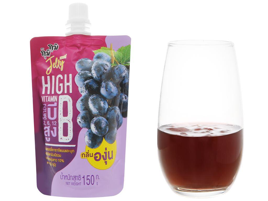 Nước thạch Jelly Gumi Gumi Vitamin B vị nho 150g 5