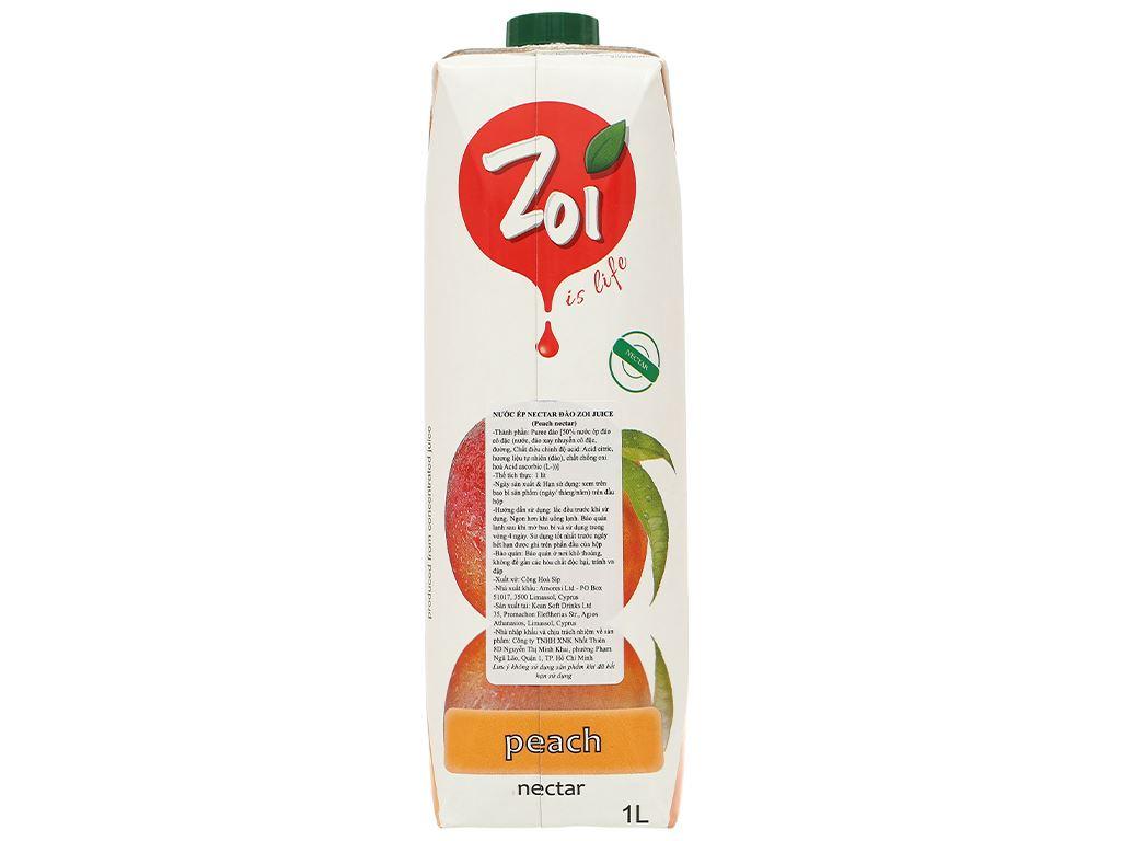 Nước ép nectar đào Zoi 1 lít 2