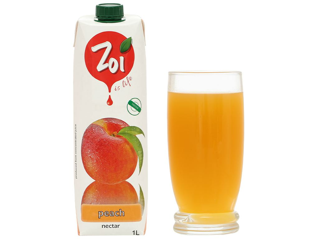 Nước ép nectar đào Zoi 1 lít 7