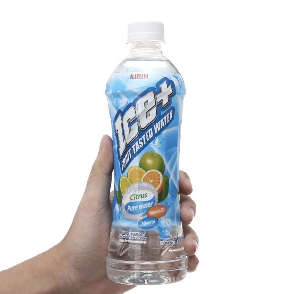 Nước trái cây vị cam chanh Ice+ chai 490ml