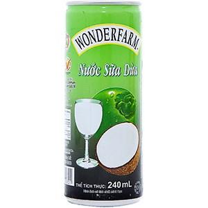 Nước Sữa dừa Wonderfarm lon 240ml