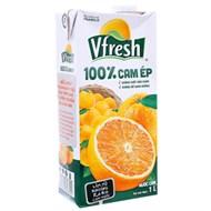 Nước ép Cam 100% không đường Vfresh hộp 1 lít