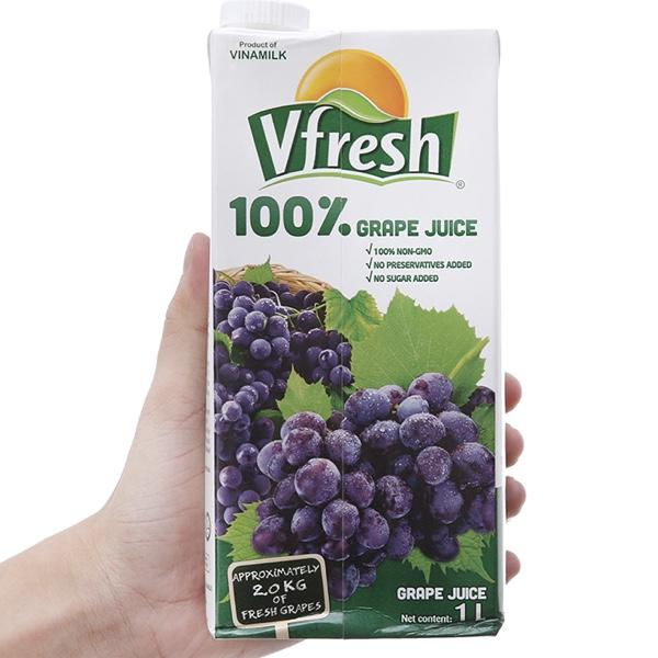 Nước ép nho 100% Vfresh 1L