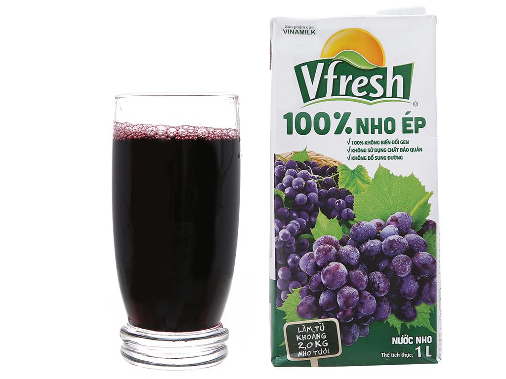 Nước ép nho 100% Vfresh 1L 4