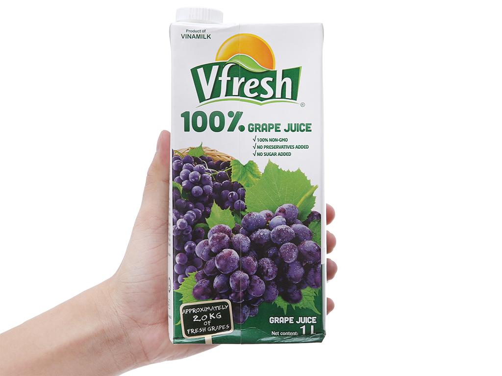Nước ép nho 100% Vfresh 1L 5